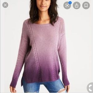 American Eagle Outfitters Purple Ombré Sweater